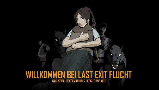 Startscreen Last Exit Flucht, Quelle: UNHCR