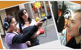 Screenshot edura.fm, Jugendliche beim Internet-Radio