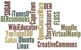 Wordle - OER CC BY-SA 2.0 Wesley Fryer @ flickr.com, OER-Festival
